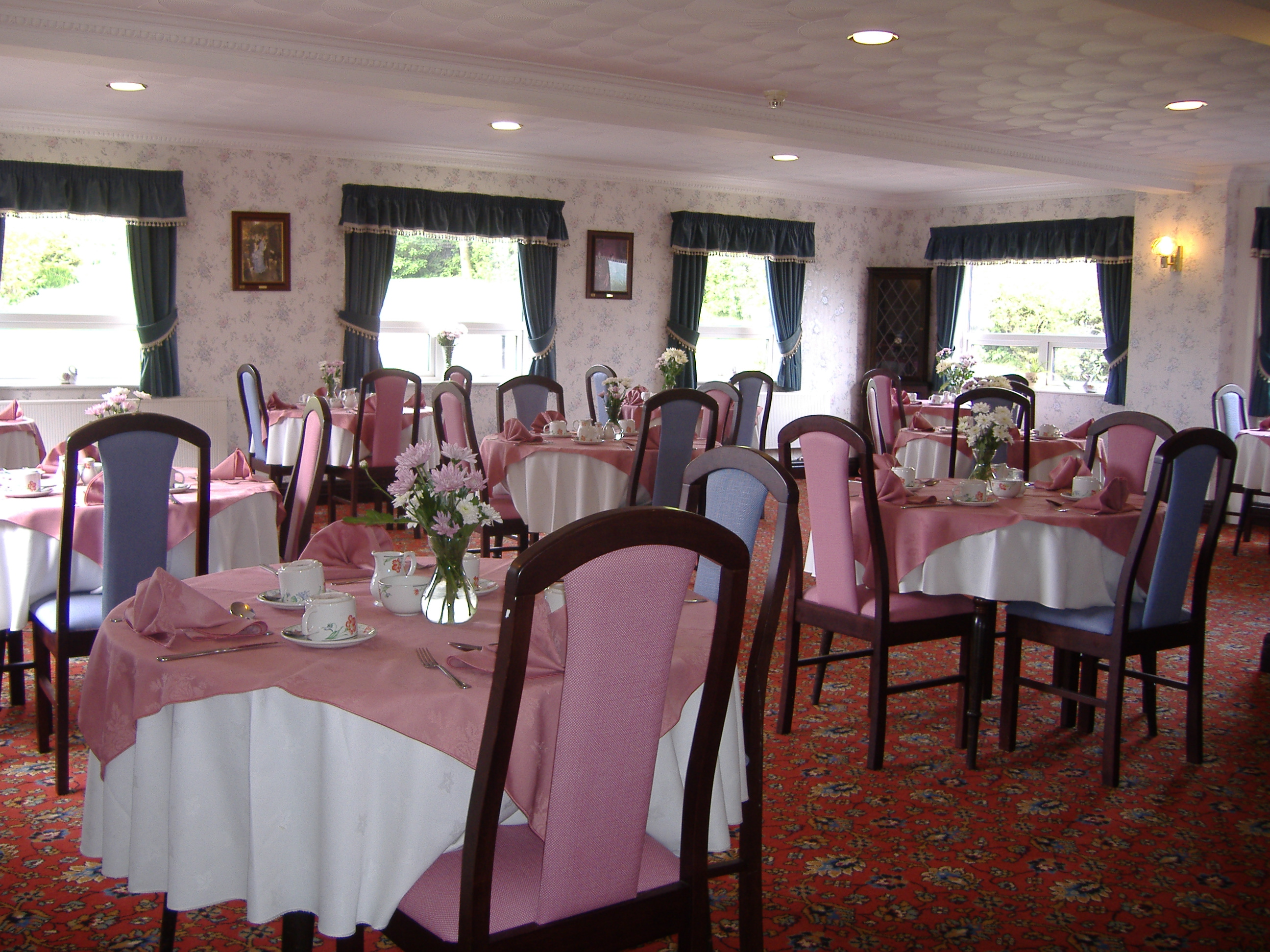 Dining Room at Queens Lodge Nursing Home Blackburn Lancashire England